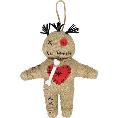 Voodoo Puppe aus Jute Priester Kostümzubehör Rache Ritual Magie Voodoopuppe ()