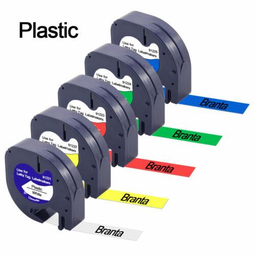 91220 91200 Kompatibel für DYMO LetraTag 12mm Schriftbänder Büro Bandkassette