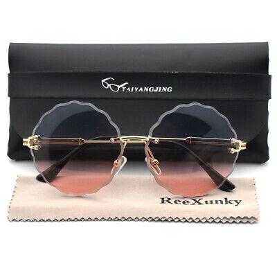 Frameless Round Sunglasses Women 2020 Trending Outdoor Sun Glasses Eyewear (Round Frameless Glasses)