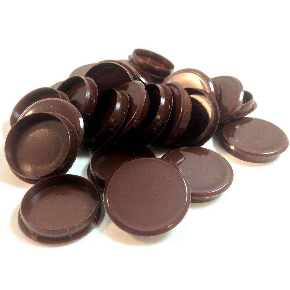 35mm BROWN PLASTIC HINGE HOLE COVER CAPS FOR KITCHEN ...