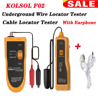 Kolsol F02 Underground Wire Locator Cable Tracker With Earphone Usa Shipping