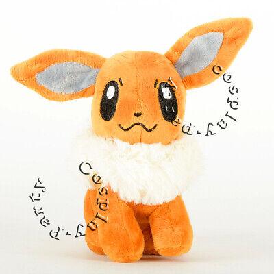 Eevee Pokemon Plush - Pokemon Eevee  Stand Figures Plush Soft Toy Stuffed Doll 6'' Kid Baby Gift