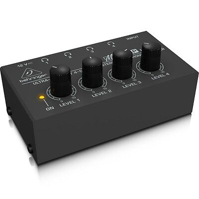 Behringer HA400 Ultra-Compact 4-Channel Ultra Compact Stereo Headphone Amplifier