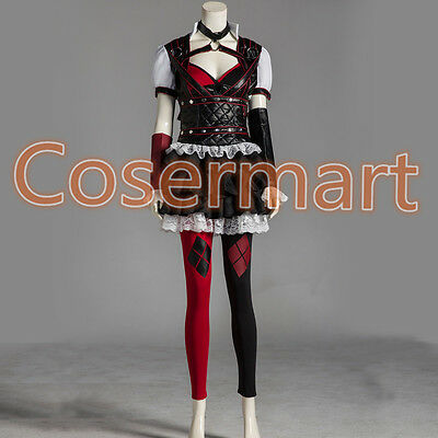 Halloween Batman Arkham Asylum City Knight Harley Quinn Cosplay Dress Costumes  - Asylum Costumes Halloween