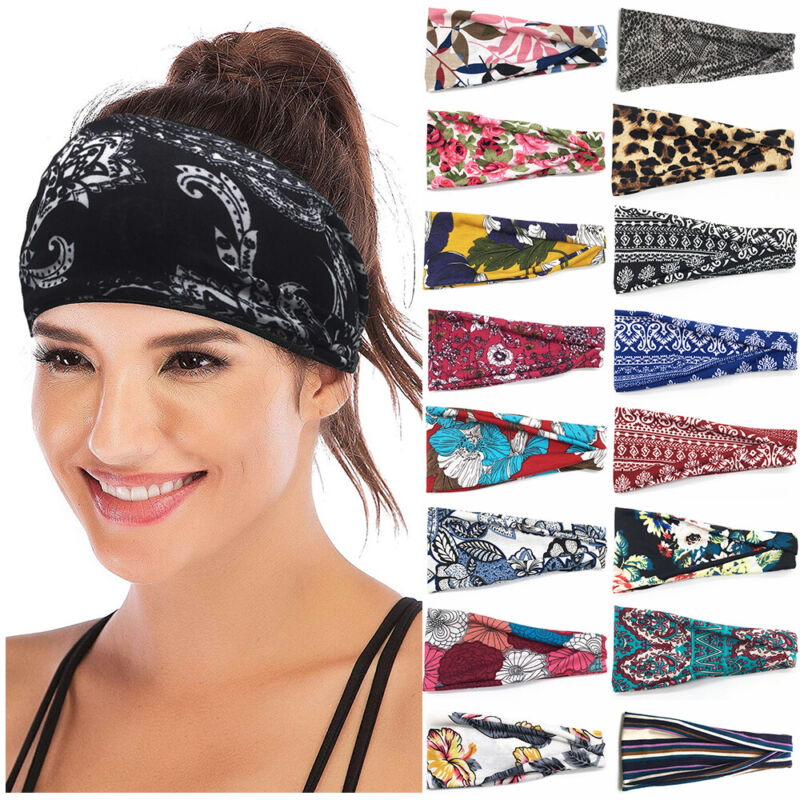 Yoga Hair Bands Women Headbands Sport Bandana Head Wrap Elas