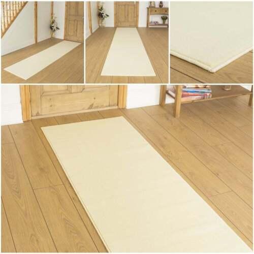 einfache creme l ufer teppich flur matte f r halle extra. Black Bedroom Furniture Sets. Home Design Ideas