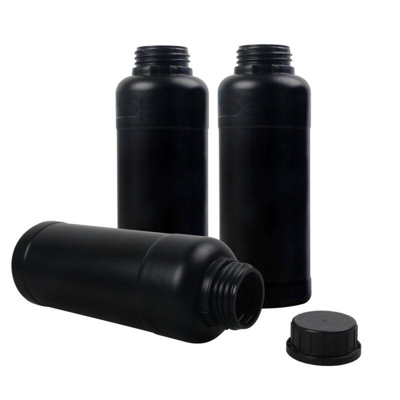 3pcs 500ml Darkroom Chemical Storage Bottles Film Photo Negative Develop Process
