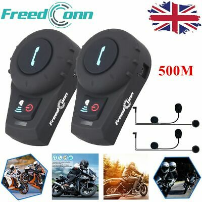 FreedConn FDC-VB 2.4GHz Bluetooth Motorcycle Helmet Intercom Headset FM 500M x2