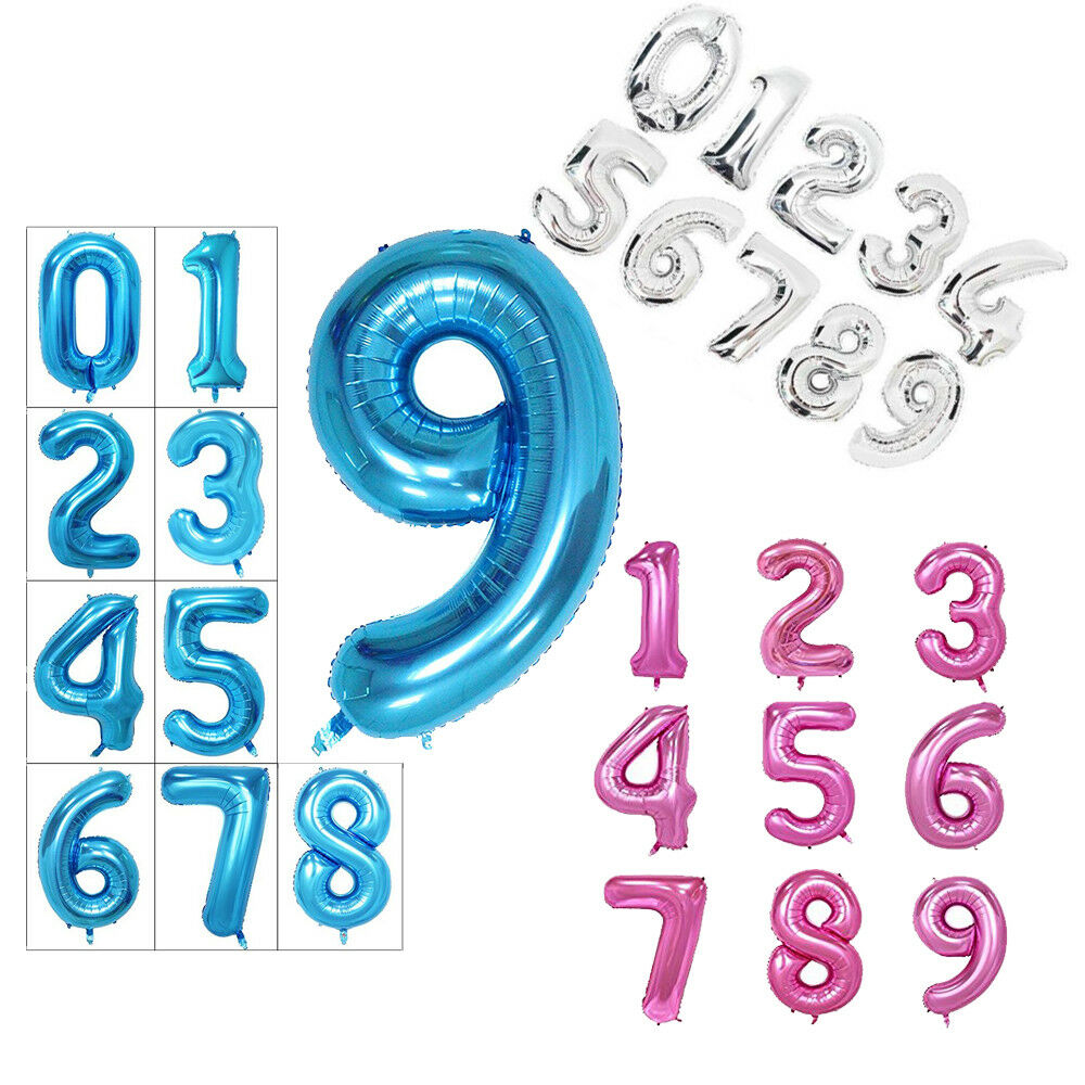 Details About 40 Inch Giant Helium Foil Number 0 9 Balloon Birthday Wedding Party
