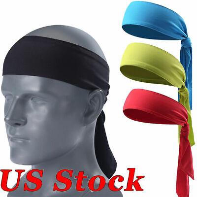 US FAST Men Women Sports Sweat Headband Bandage Tennis Running Pirate Hair Band (Pirate Hair Accessories)