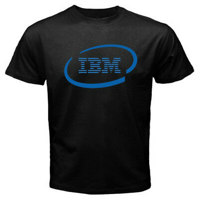 Business Machines - New IBM International Business Machines Logo Men's Black T-shirt Size S-3XL
