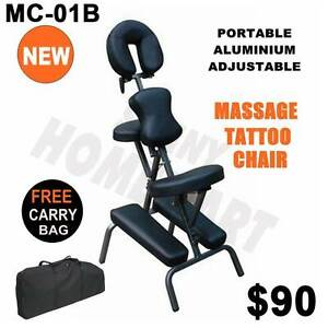 New Aluminium Portable Massage Therapy Chair Table with Carry Bag Derrimut Brimbank Area Preview