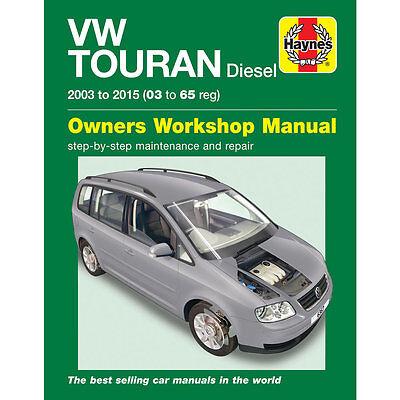 VW Touran Diesel 1.6 1.9 2.0 Diesel 2003-2015 Haynes Workshop Manual