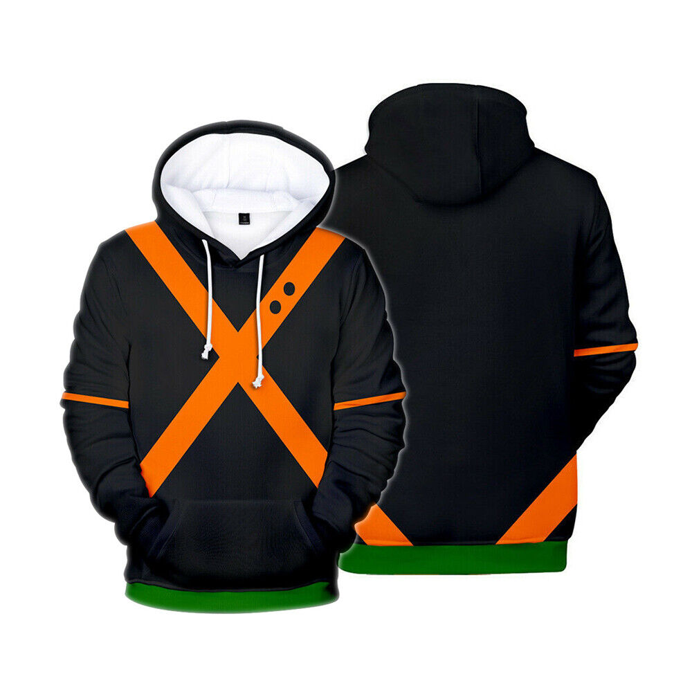 My Hero Academia Katsuki Bakugou Cosplay Costume Jacket Sweatshirt Hoodie Coat Activewear