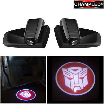 Champled Transformers R Car Led Door Projector Shadow Lights Emblem Wireless