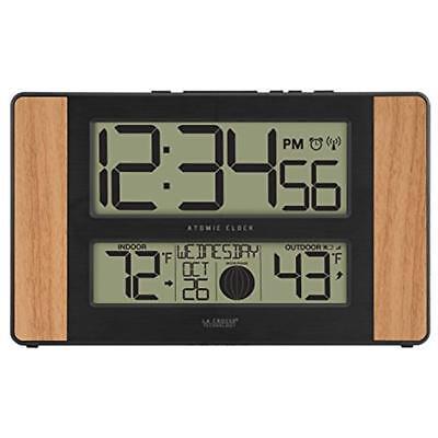 La Crosse Technology 513-1417 Atomic Digital Clock with Outd