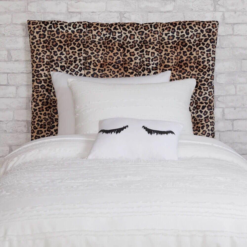 Leopard Twin/Twin XL Velvet Hanging Headboard Pillow