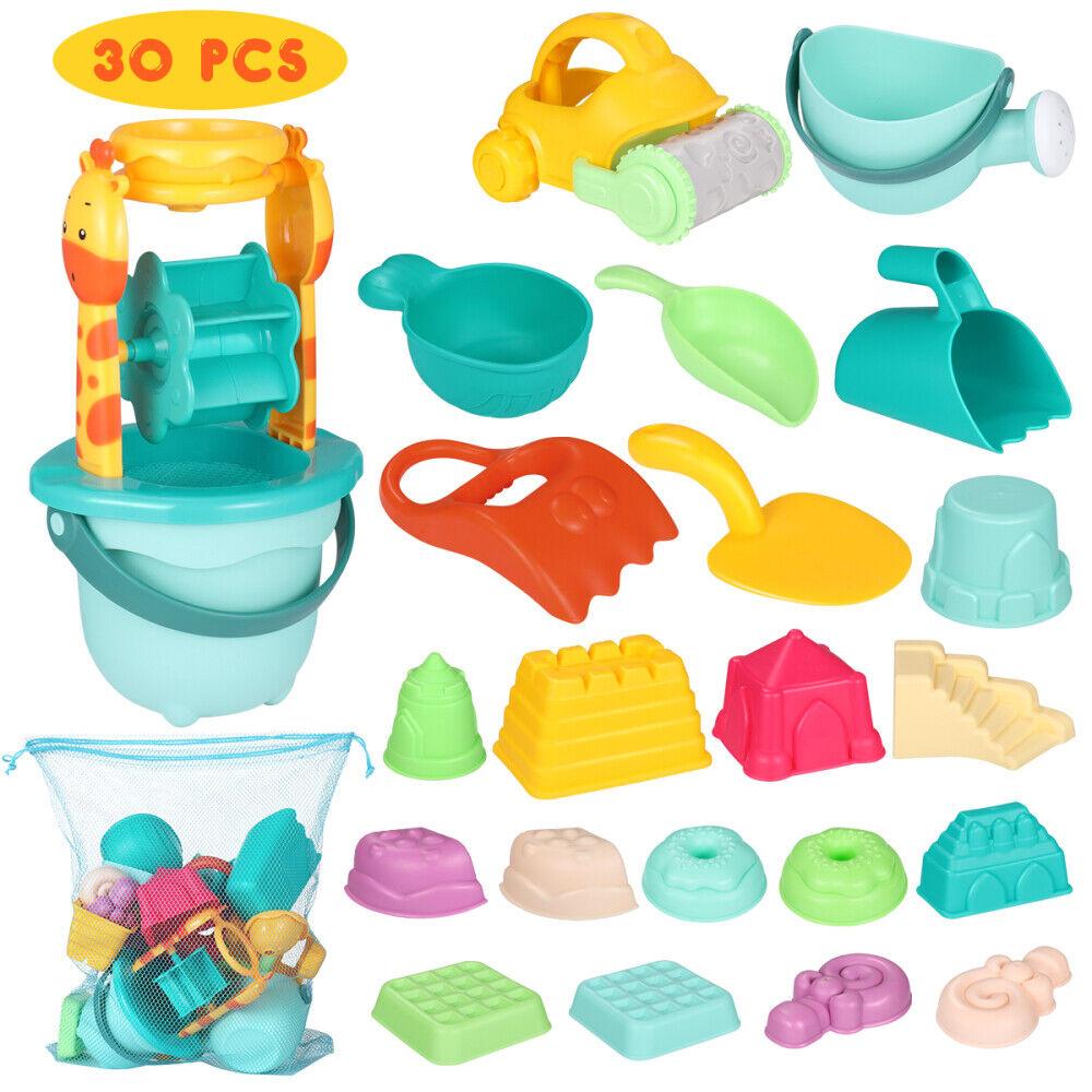 30tlg.Sandspielzeug Set Strandspielzeug für Sandkasten mit Kipper und Gießkanne
