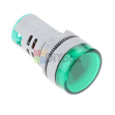 22mm Ac60-500v Led Voltmeter Voltage Meter W Indicator Pilot Light Diy Green