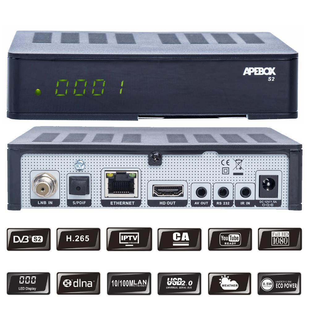 Apebox S2 Full HD 1080p Sat Receiver,...
