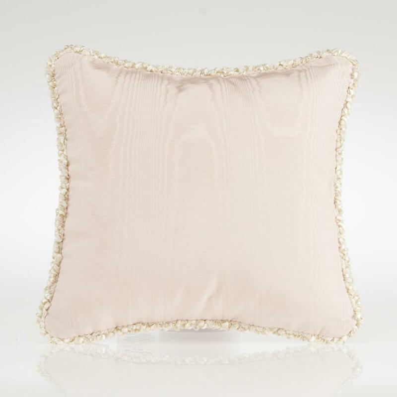 Glenna Jean Contessa Pink Moire Throw Pillow Vintage Baby Girl Nursery Decor