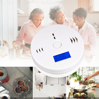 Carbon Monoxide And Smoke Detector Combo Alarm Sound Gas Sensor Battery Operated