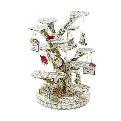 Alice in Wonderland Cupcake Stand - Afternoon Tea and Garden Party - Alice And Wonderland Party