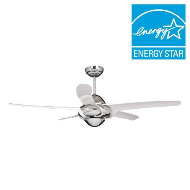 Vento uragano 54 in indoor chrome ceiling fan with 5 white blades indoor chrome ceiling fan with 5 white blades mozeypictures Gallery