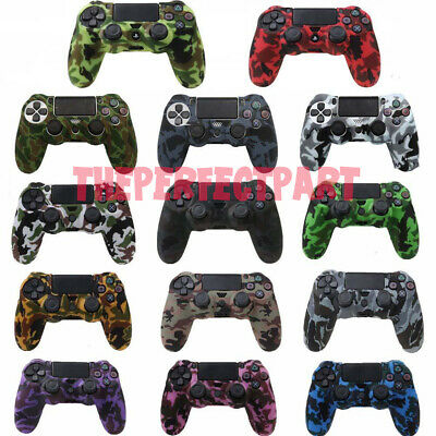 - Camo Silicone Rubber Skin Case Gel Cover Grip for Playstation 4 PS4 Controller