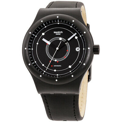 Swatch Originals Automatic Movement Black Dial Unisex Watch SUTB400 **Open Box**