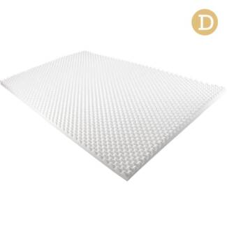 Deluxe Egg Crate Mattress Topper 5 cm Underlay Protector Double