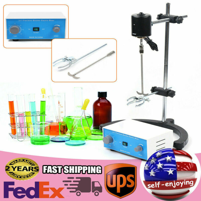 Electric Overhead Stirrer Mixer Drum Mix Biochemical Lab Tool height Adjustable