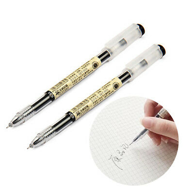 - 0.35mm Full Needle Gel Pen Black Writing Portable School Stationery Acc Tool Hot