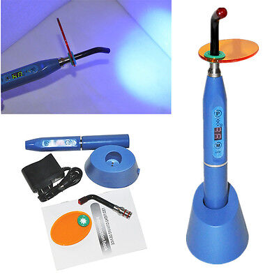 Professional Dental 5w Wireless Cordless Led Curing Light Lamp 2000mw Blue Usa