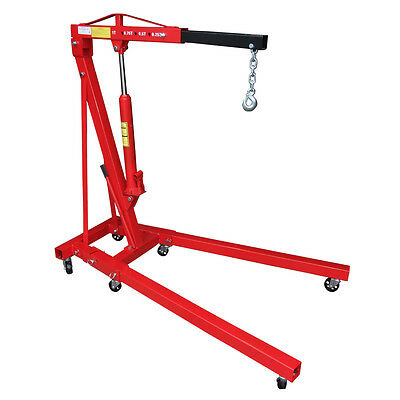 Red 1 Ton Hydraulic Folding Engine Crane Shop Stand Hoist lift Jack