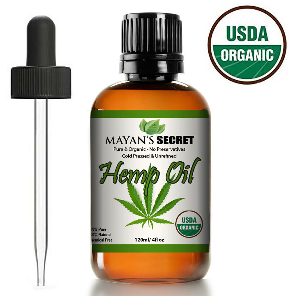 4 OZ USDA CERTIFIED ORGANIC HEMP SEED OIL RAW PURE UNREFINED COLD PRESSED 4OZ Health & Beauty