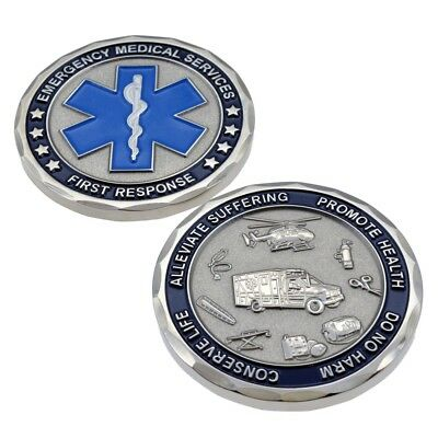 EMS EMT Emergency Services Star of Life Paramedic Medical Rescue Challenge Coin