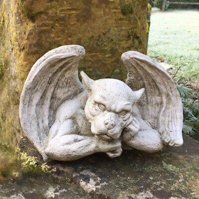 Der Denker Gargoyle Mauerdekoration – Stein Monster Mittelalter Figuren Garten