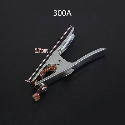 300a Copper Welding Arc Earth Ground Clamp For Mma Arc Stick Manual Welder Clip