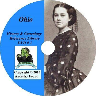 188 old books - OHIO History & Genealogy on DVD