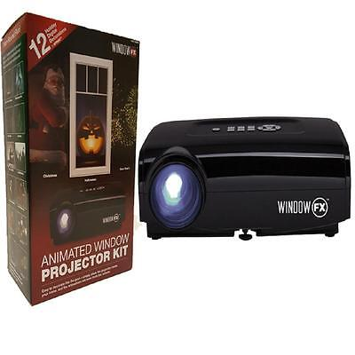 Christmas & Halloween Window FX Projector Kit Seasonal Window Display NEW