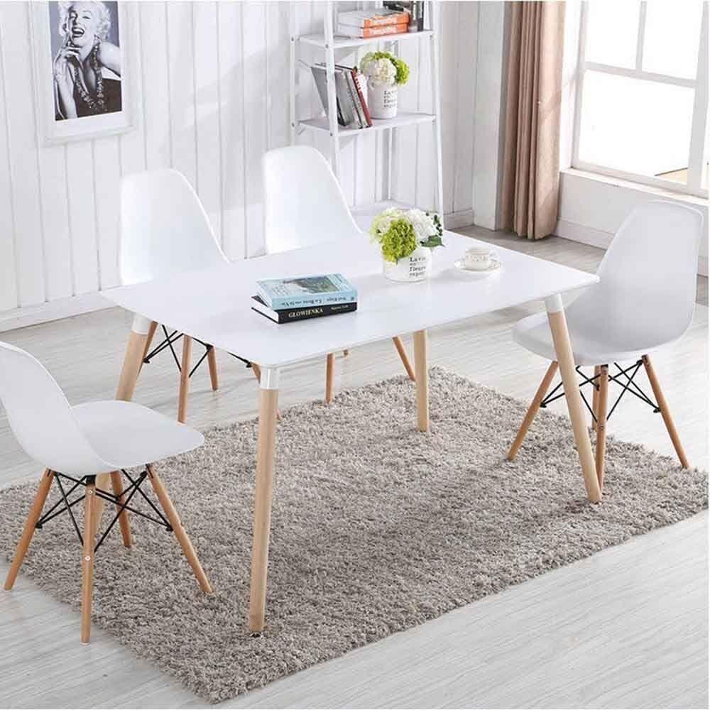 4er Set Stuhl DEKO Design Wohnzimmerstuhl Esszimmerstuhl weiße Stühle freizeit