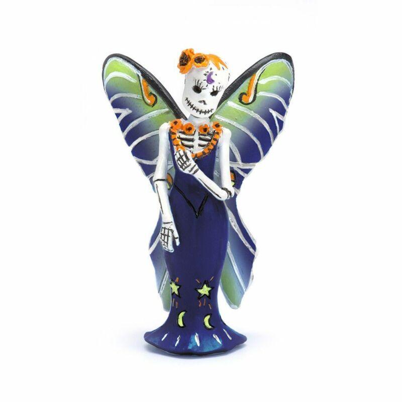 Miniature Fairy Garden Day-of-the-Dead Luna Fairy - Buy 3 Save $5