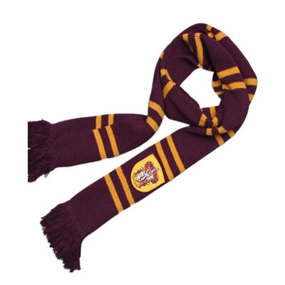 Harry Potter Gryffindor Thicken Wool Knit Scarf Wrap Warm Costume Xmas  Gift