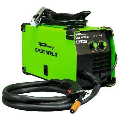 Forney Flux Core Wire Gasless Welder Lightweight Portable Green 120-volt 140 Amp