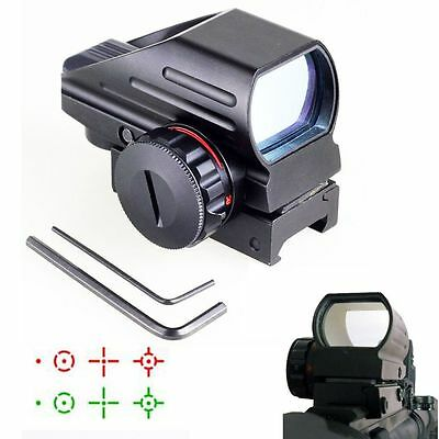 Tactical Holographic Aluminum Red & Green Dot Laser Sight 4 Reticles Airsoft
