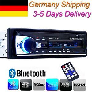 Bluetooth-AUTORADIO-1-DIN-Stereo-MP3-Player-SD-USB-AUX-IN-MMC-WAV-WMA-FM-Radio