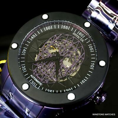Invicta Speedway Skull NH70 Automatic Purple Steel 51mm Skeletonized Watch New