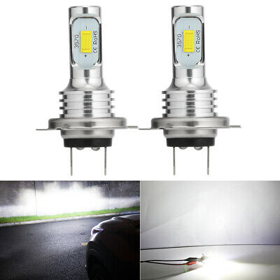 H7 LED Headlight Bulbs Conversion Kit Super High/Low Beam 4000LM 6000K White 80W