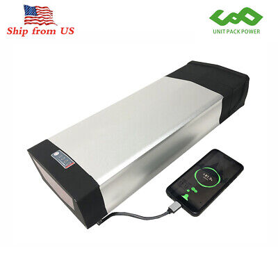 48V 20AH 1000W Rear Rack E bike Battery for 1000W Electric Bicycle LED Taillight